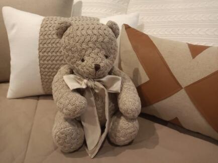 Urso M Ted Tricot cestaria sisal 35cm FAU