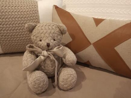 Urso P Ted Tricot cestaria sisal 25cm FAU